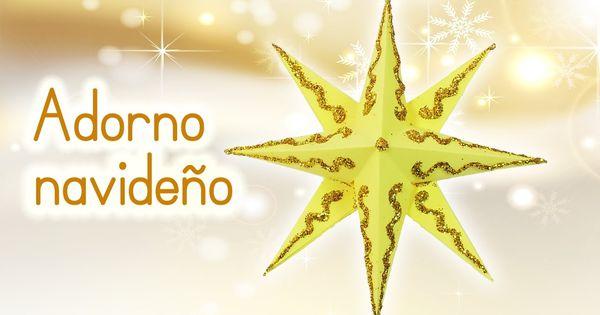 manualidades para navidad adorno navide o estrella 3d de