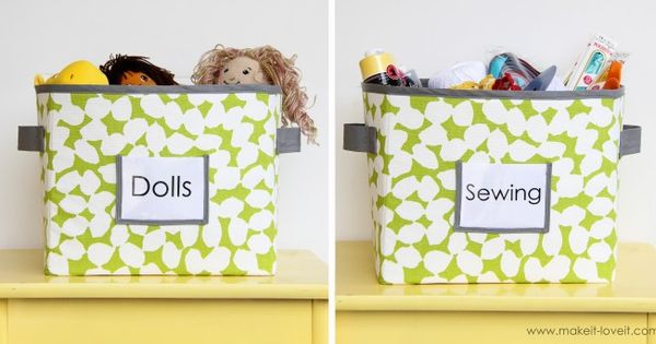 DIY fabric storage boxes (maybe recover some of my old ones to