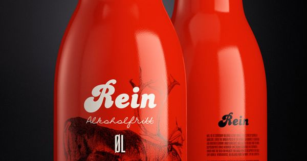 Rein beer packaging design | Art and design inspiration from around the