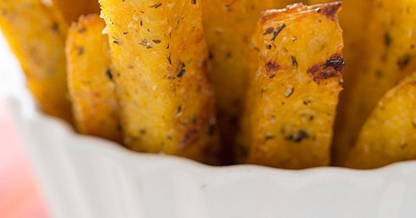 This sounds yummi ...Crispy, Perfect Baked Polenta Fries with Garlic Tomato Sauce