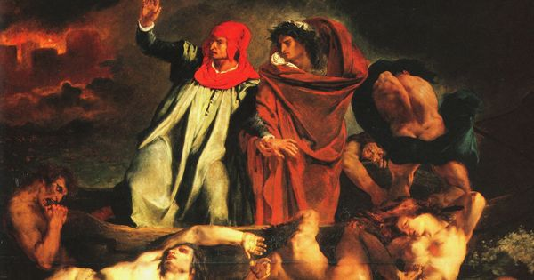 delacroix dante and vergil in hell images of hell