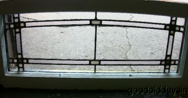 1920s chicago bungalow style stained glass transom arched for 1920s window styles