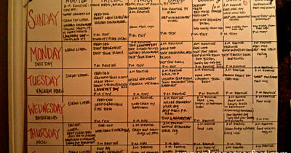 The Family Chore Chart Like The Idea Of Each Person Doing Their Own Laundry On A Specific Day