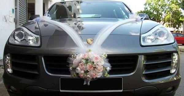 Pink Wedding Car Materials Materials White Pink Artificial Flowers Pink Purple Wedding Car Wedding Car Decorations Pink Wedding