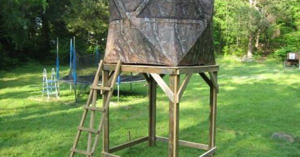 Diy Outdoor Platform Photo Elevated Ground Blind