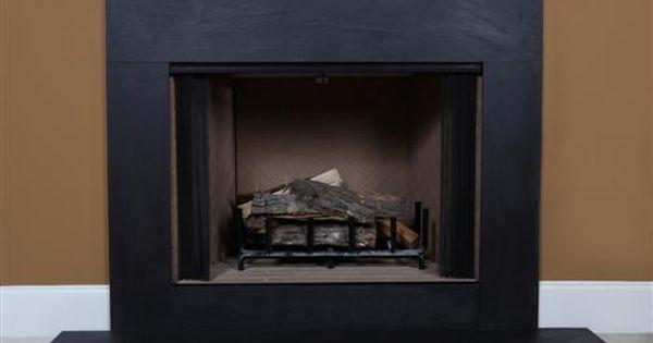 Black Cleft Slate | Slate fireplace, Slate and Fireplace ...