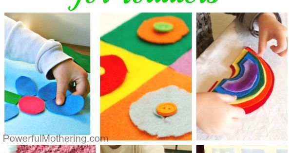 20 ideas to get your toddler learning using felt as the base.