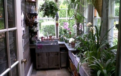 I need a greenhouse workspace for my plants.