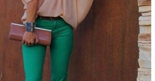 colored pants! i love this outfit, my green pants would look great