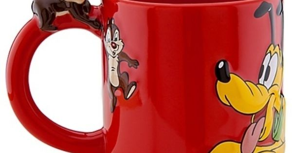 Pluto with Chip and Dale Disney Store 25th Anniversary Mug. $24.99