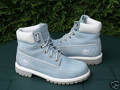 Blue timberland boots, Baby blue