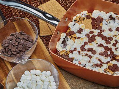 Smores Cake Recipes Copper Chef Copper Cooking Pan Smores Cake
