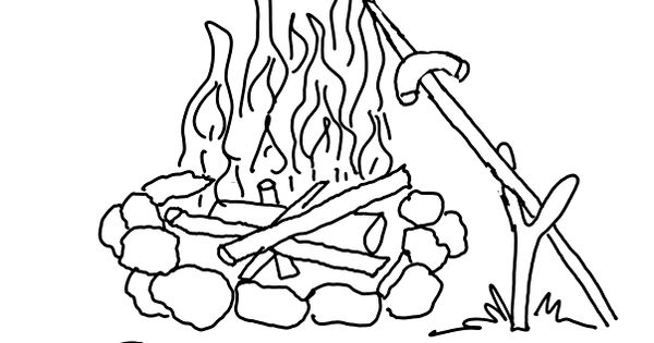 campfire-coloring-page...