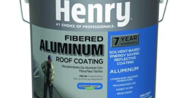 Henry 4 75 Gal 555 Premium Aluminum Roof Coating He555019 The Home Depot Roof Coating Metal Roof Coating Aluminum Roof