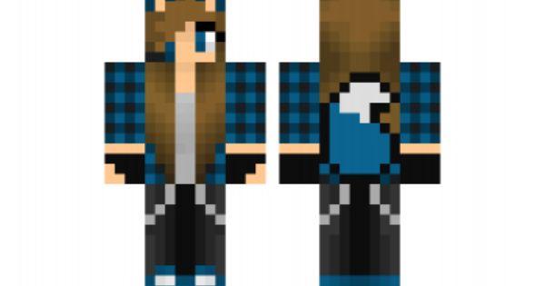 minecraft skin blue-wolf-girl   Minecraft Skins ...