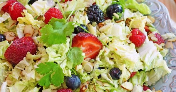 Very Berry ~4 kinds of Berries~ Napa Cabbage Salad / Patty ...