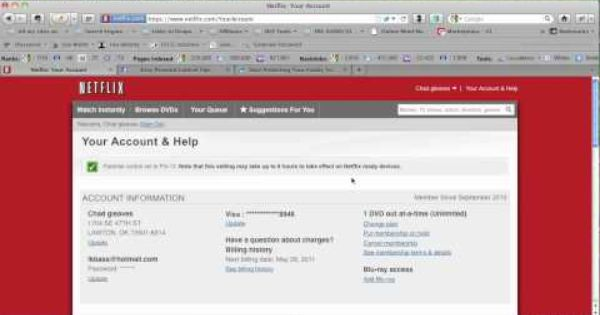 How To Setup Netflix Parental Controls In Two Easy Steps Youtube Parental Control Parenting Control
