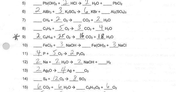 Balancing Chemical Equations Worksheets And Answers Chemical Equation Balancing Equations Equations