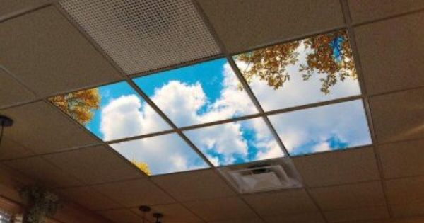 Virtual Classroom Architecture Design ~ Led skylight in windowless environment helps bring the