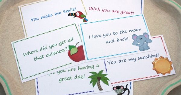 Lunch box for the kids pinterest note cards note and free