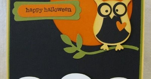 Full Moon with the Ghost | cards - Halloween paper piecing templates ...