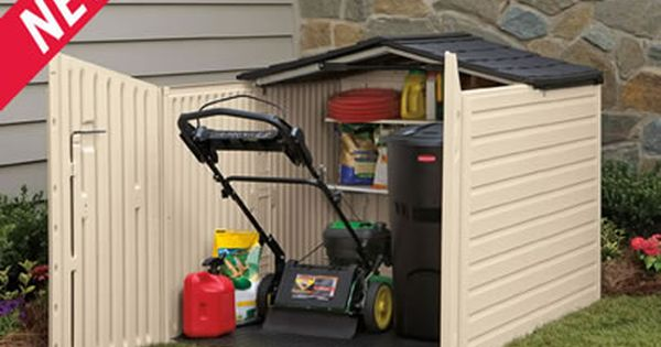 For The Lawn Mower Get It Out Of The Car Garage Garden Storage Resin Sheds Garden Storage Shed