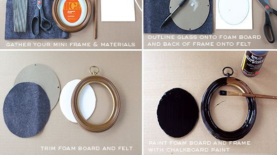 DIY Mini Chalkboard Tutorial. Unique gift tag idea.