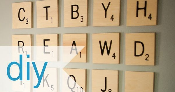 Diy Scrabble Tiles Great Way To Fill Large Wall Space