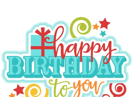 Happy Birthday to You Title SVG scrapbook cut file cute ...