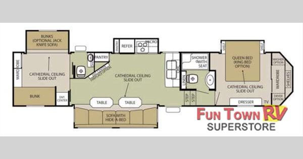 new 2015 forest river rv cedar creek silverback 37bh fifth cardinal fifth wheels floor plans by forest river access