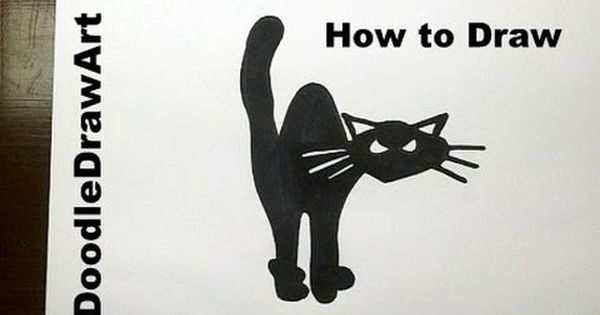 How To Draw A Black Cat For Halloween Step By Step Youtube With