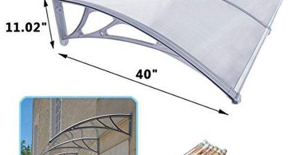 Super Deal Diy Outdoor Awning Door Canopy Patio Cover 1m X 2m Uv Rain Snow Protection 40 X 80 Outdoor Awnings Patio Door Coverings Front Doors With Windows