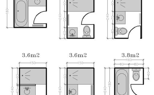 les petites salles de bains 2 3 m petites salles de bain petite salle et studios. Black Bedroom Furniture Sets. Home Design Ideas