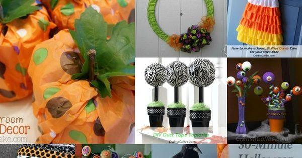 10 great halloween crafts for adults via discoverself crafts pinterest craft. Black Bedroom Furniture Sets. Home Design Ideas