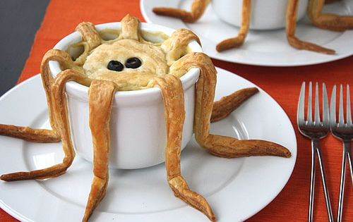 Tentacle Pot Pie - creepy Halloween Food ideas! Warning: if you open