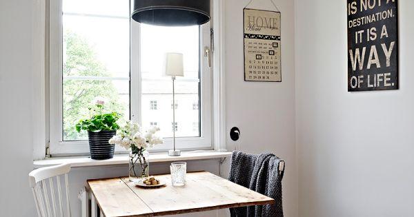 Eettafel klein appartement google zoeken deco pinterest appartements et d co - Idee deco eettafel ...