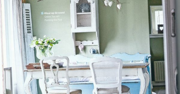 Groen muurverf  For the Home  Pinterest