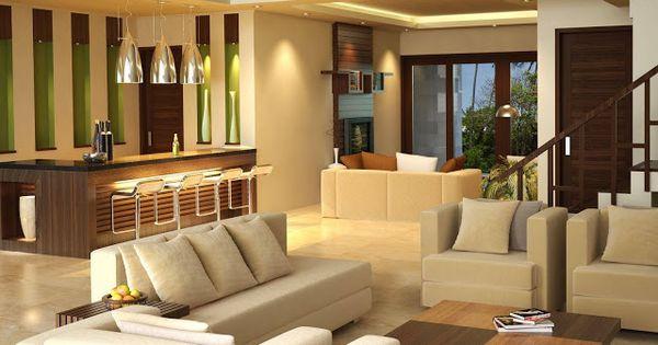 interior-ruang-tamu-dan-mini-bar | Ruang Tamu | Pinterest