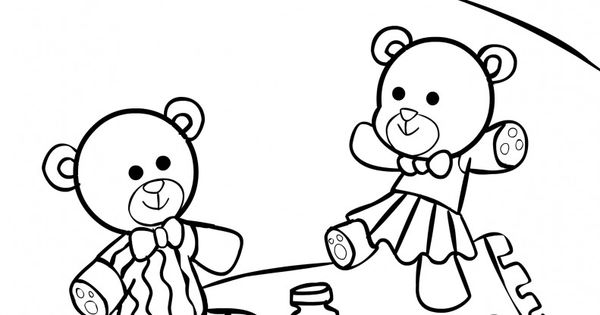 Teddy Bear Picnic Coloring Pages For Kids It 39 s a Teddy