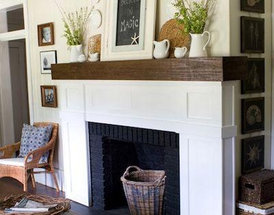 chemin e en briques peinte en noir deco pinterest briques peintes chemin e et briques. Black Bedroom Furniture Sets. Home Design Ideas