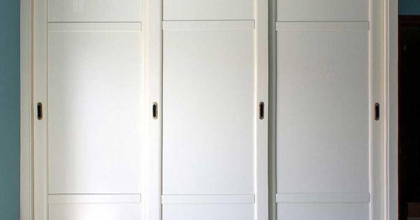 Armario empotrado de puertas correderas en color blanco - Armarios empotrados oviedo ...