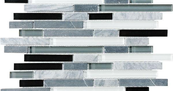 Midnight Glass Stone Linear Blend Mosaics 35 012 Bliss