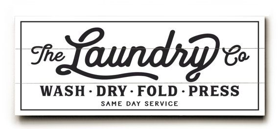 Wash And Dry Laundry Service Co Canvas Sign Planked Look Etsy