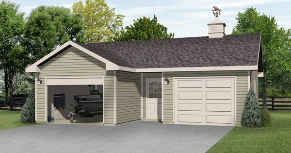 Two car garage plan with one bay deep enough for boat for 2 car deep garage