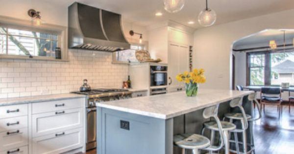 Before and after seattle kitchen gets a bright makeover for Queen anne style kitchen