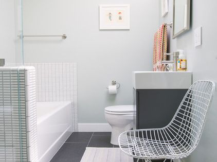 Contemporary bathroom by nanette wong brightening up a for Windowless bathroom design ideas
