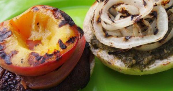 Grilled Portobello And Peach Sandwich Recipe — Dishmaps