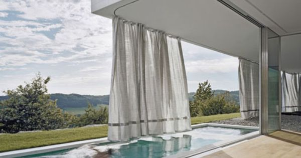 curtain system patio pinterest architects and architecture. Black Bedroom Furniture Sets. Home Design Ideas