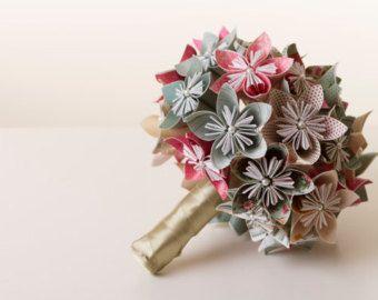 Mazzo Di Fiori Origami.Bouquet Di Fiori Di Carta Mazzo Di Origami Kusudama Bouquet