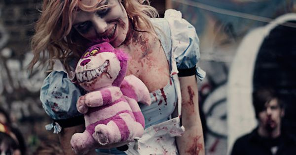 Zombie Alice in Wonderland...I may do this costume this year